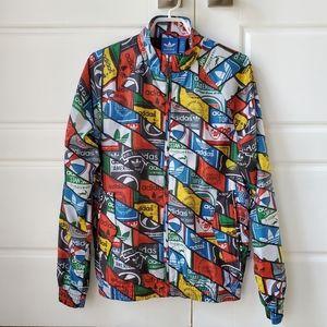 Adidas Jacket Windbreaker Multicolored Vintage
